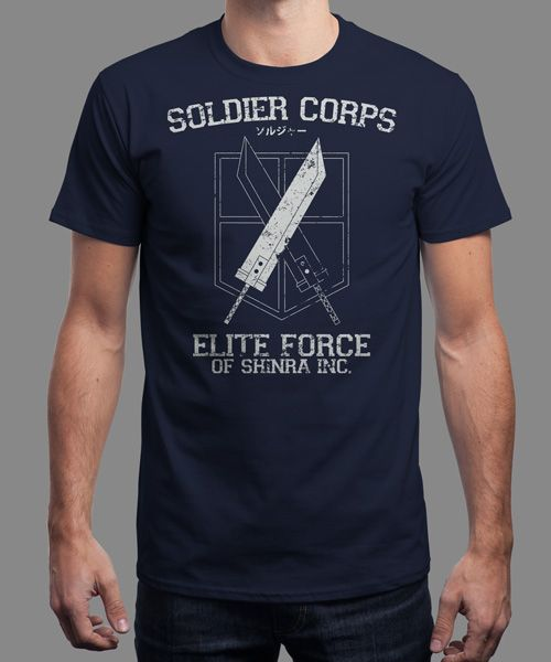 """Soldier Corps"" is today's £8/€10/$12 tee for 24 hours only on www.Qwertee.com Pin this for a chance to win a FREE TEE this weekend. Follow us on pinterest.com/qwertee for a second! Thanks:)"