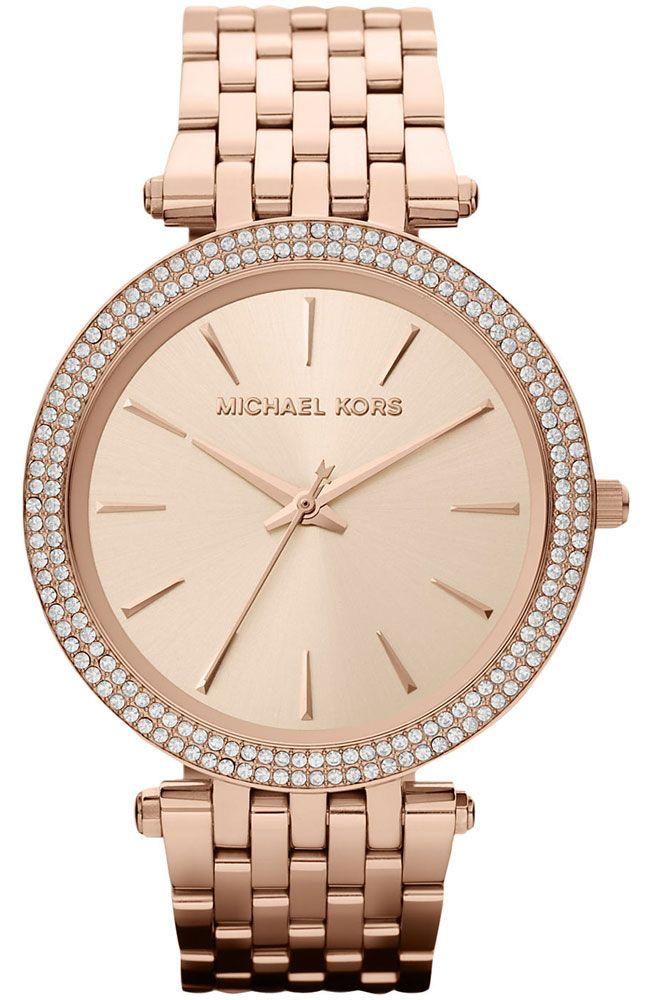 MICHAEL KORS Darci Crystals Rose Gold Stainless Steel Bracelet MK3192