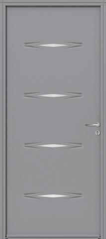 Porte d'entrée en acier Panthère, couleur grise