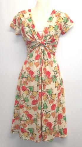 Floral WWII 1940's Vtg style Land Girl Swing Tea Dress UK16