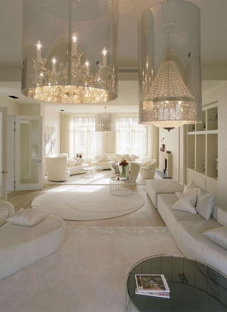 beautiful unique chandelier in white luxurious living room modern lighting with crystal chandelier for living room design beautiful home interior
