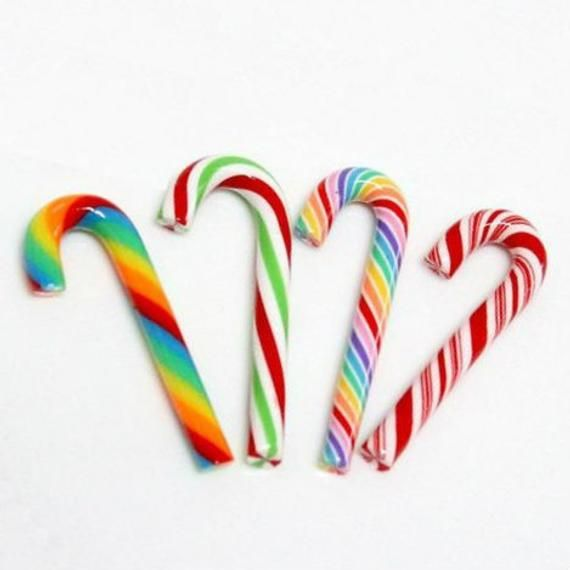 Fake Candy Fake Candy Canes 20mm Faux Christmas Candy Canes