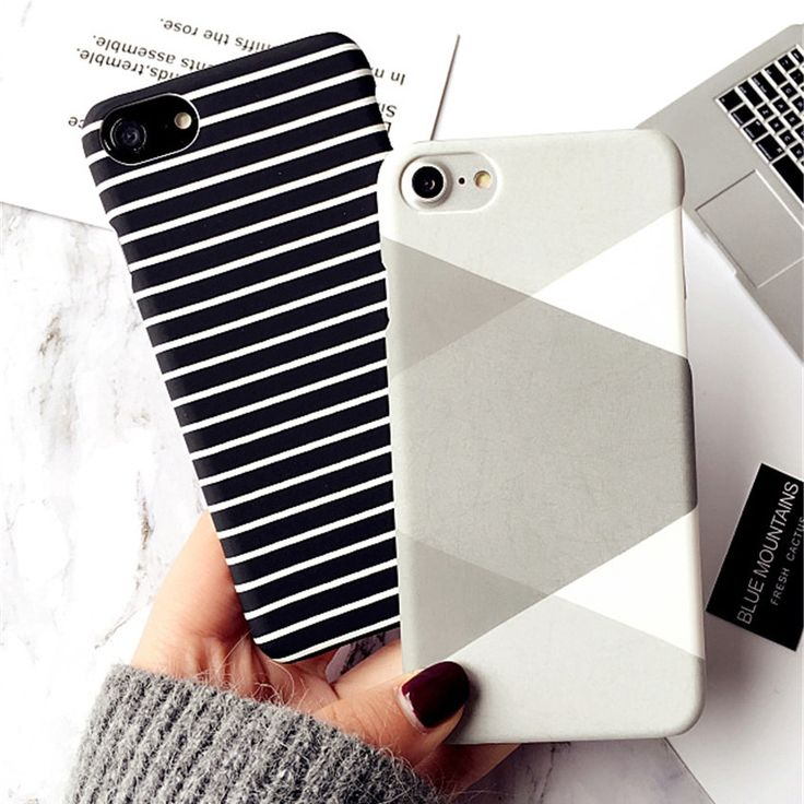 Zebra Stripe Iphone 7 8 Plus X 5S 6 S Plus Case Black White Painted Hard Protect Coque Phone Cases For Iphone XS Max XR