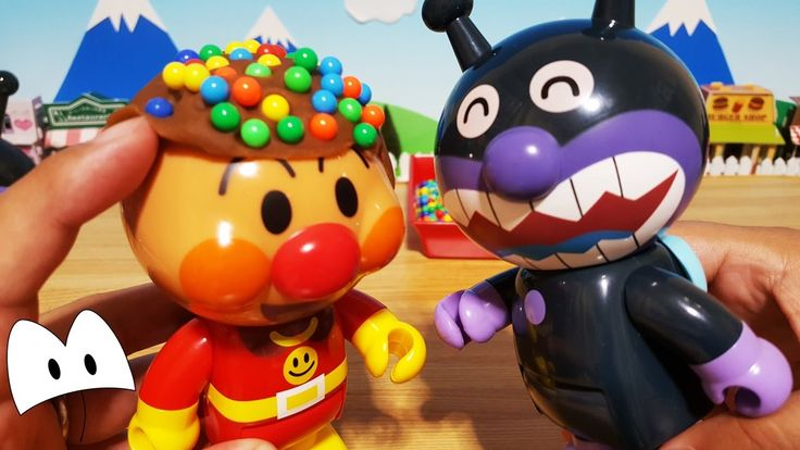 アンパンマン おもちゃアニメ ねんど遊び!アンパンマンのカラフルな髪型!バイキンマンもビックリ!カラーボールヘアー Miniature Toys