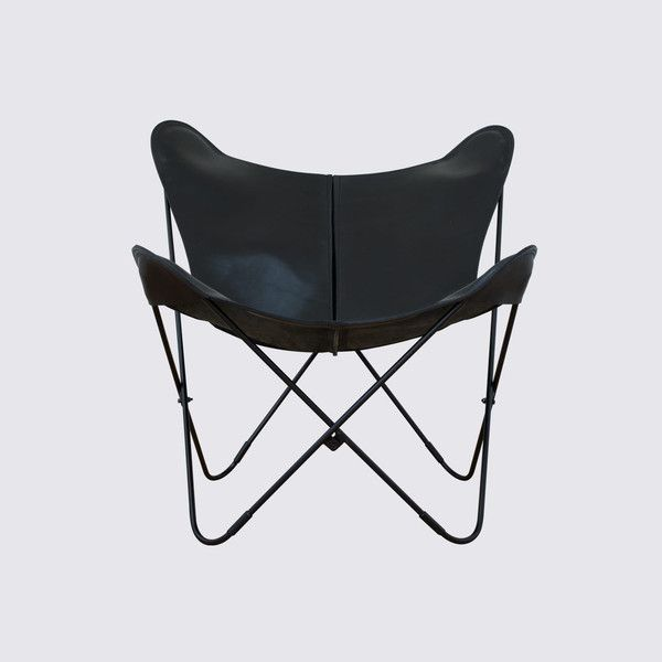 Leather Butterfly Chair from Argentina