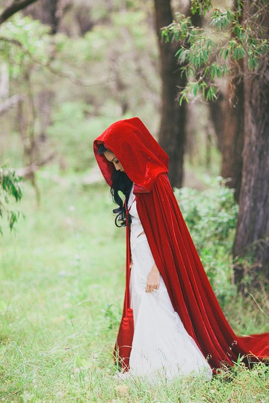 Something as simple as this can also be a possible costume design for little red riding hood