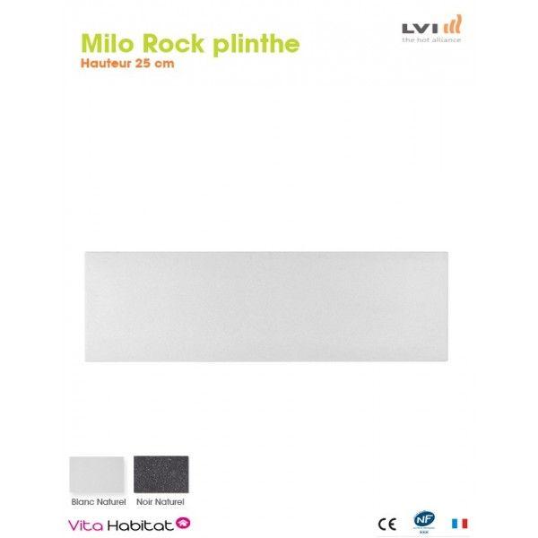 Radiateur Electrique MILO Rock Plinthe (haut.250) Blanc 750W   LVI 2025180
