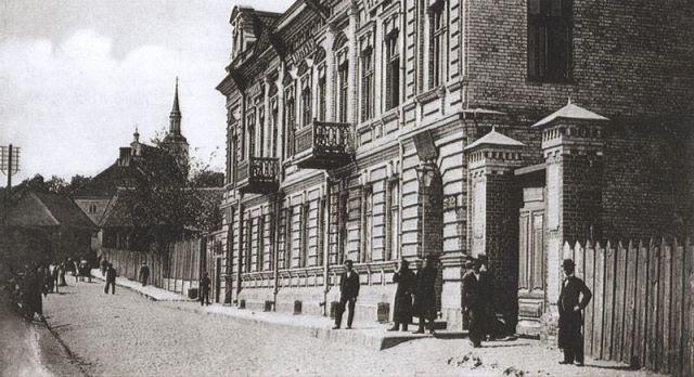 Białystok, ul. Kościelna, ok. 1900