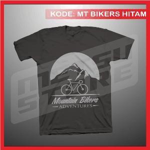 Kaos Sepeda Mountain Bikers Adventure Kaos Distro Hitam Metsu Store