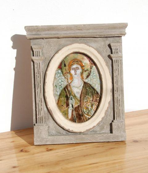 Gábriel arkangyal., Dekoráció, Képzőművészet , Kép, Meska
