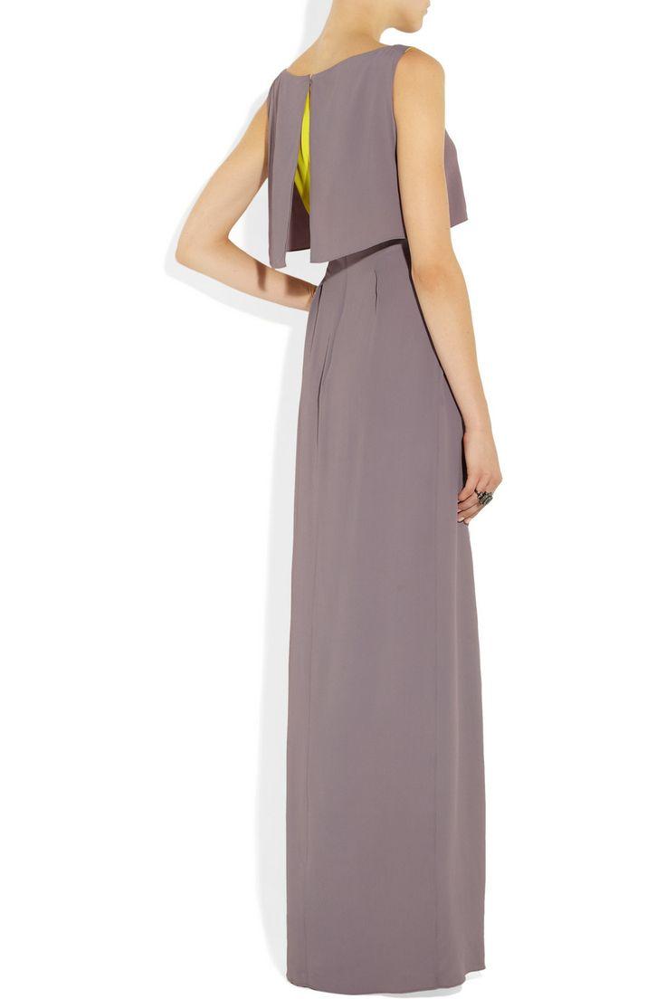 Roksanda Ilincic | Orianne two-tone crepe gown | NET-A-PORTER.COM