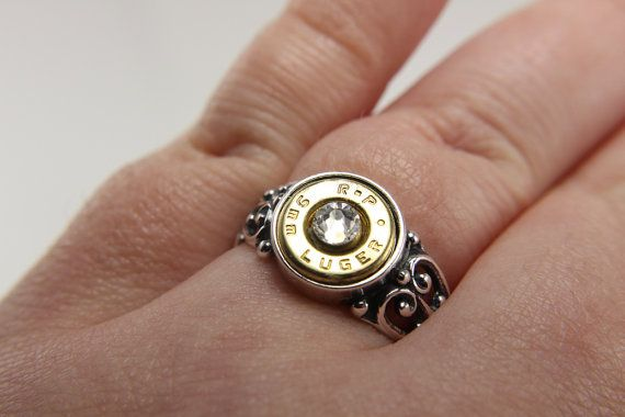 Sterling Silver Bullet Ring - Silver Bullet Jewelry - Sterling Silver Ring - Silver Filigree Engagement Ring - Country Wedding