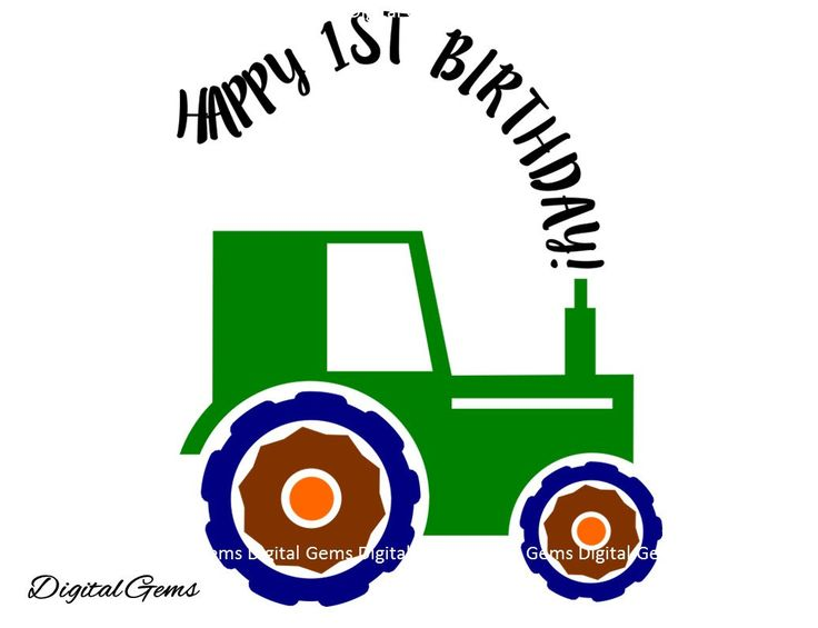 On Sale 50% Off! Happy 1st Birthday Boy Tractor, SVG Cutting File For Cricut Design Space, Instant Download, Small Commercial Use OK by DigitalGems on Etsy