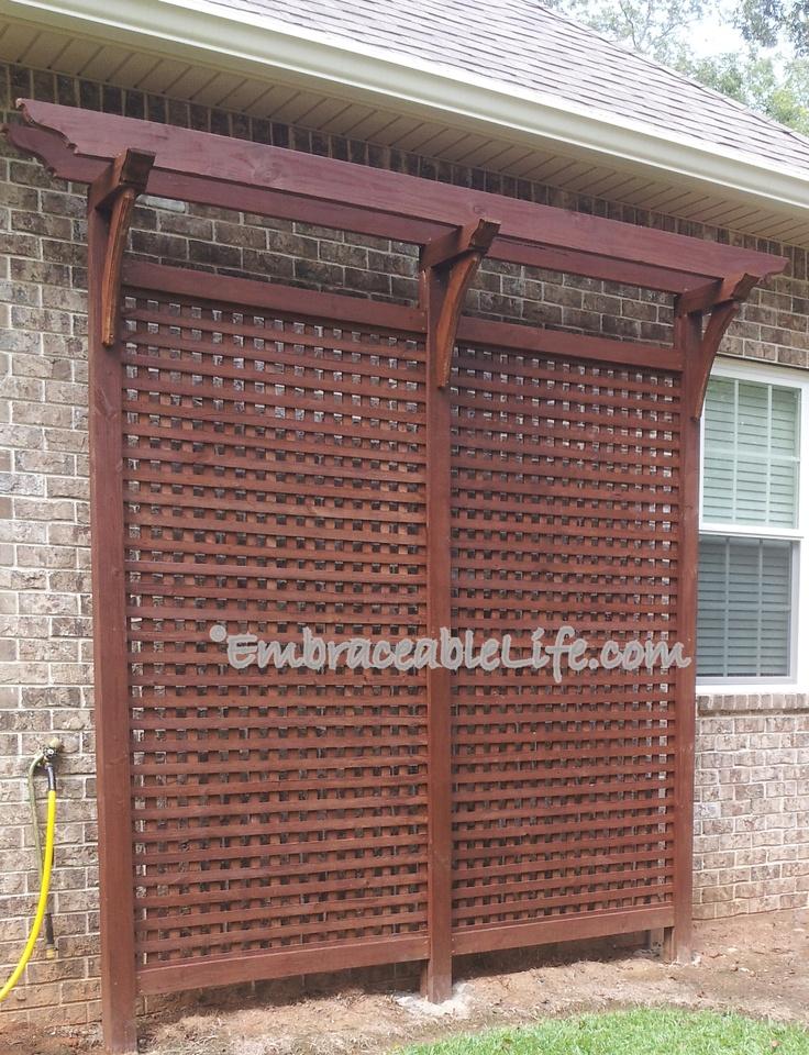 Backyard trellis or arbor do it yourself pinterest for Trellis or arbor