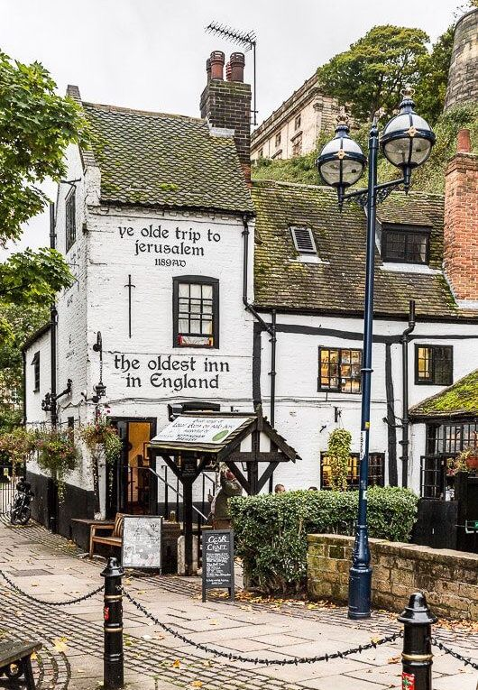 The Ye Olde Trip to Jerusalem Pub in Nottingham, England is one of the oldest pubs in the UK.