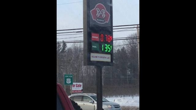 Gasbuddy.com says several stations in Houghton Lake, Michigan have lowered their prices under $1 per gallon, in what appears to be a price war.