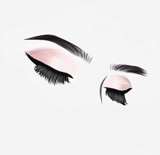 Eyelash technician salon graphic