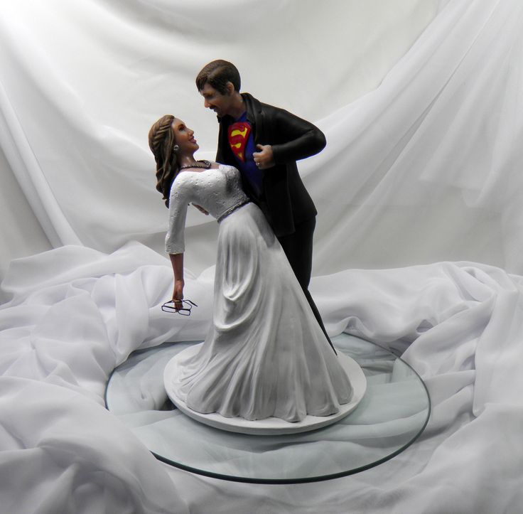 superman wedding cake toppers superman themed custom wedding cake topper order yours 20622