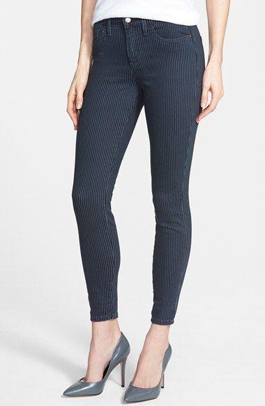 Women's Yoga Jeans by Second Denim Stripe Ankle Skinny Jeans