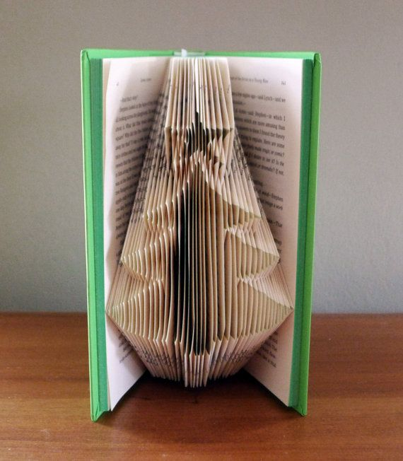 Christmas Tree Folded Book Art Christmas by LucianaFrigerio, $85.00
