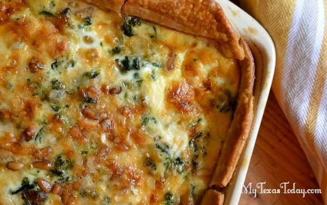 Spinach and Mushroom Quiche | Breakfast In Bed | Pinterest