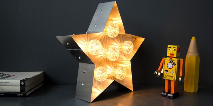 Light Up Fairground Star Illuminated Light Lamp Funfair – Goodwin + Goodwin™ - Amazing things made with type!