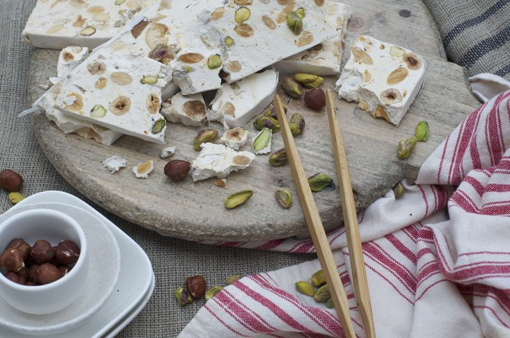 Nougat: made the traditional French way. Filled with almonds, pistachios, and hazelnuts.  Another hand made treat from Bennetts of Mangawhai.