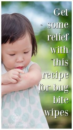 Homemade itch relief wipes recipe using essential oils. Great to carry around for when some nasty bug decides to make a meal of your child. Gym Craft Laundry
