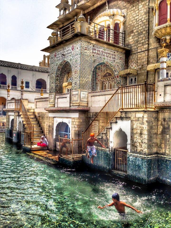 """Gurdwara Panja Sahib is a gurdwara situated at Hasan Abdal, 48 kilometres (30 mi) from Rawalpindi in Pakistan."