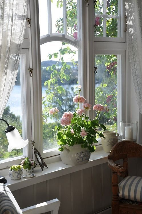 Beautiful view out the cottage window