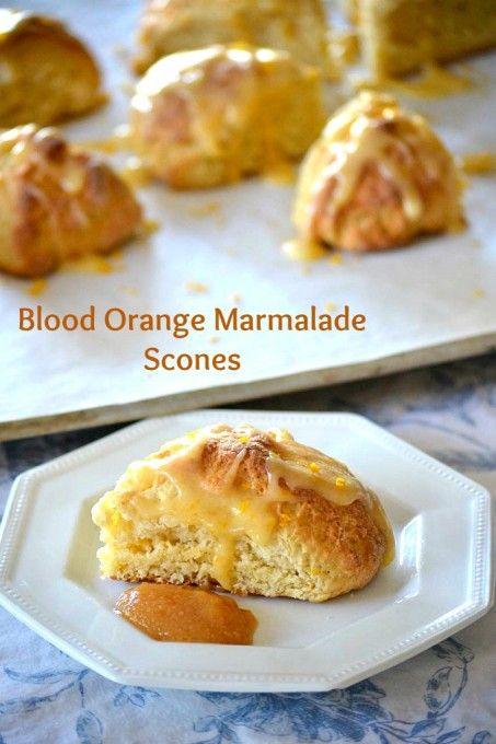 Blood Orange Marmalade Scones - made with Golden Door Blood Orange ...