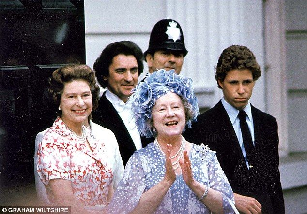 The Queen Mother, centre, would regularly ask The Queen 'have you been reigning today, Lil...