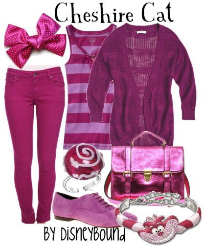 In case you don't want to wear a dress...this one is with pants @Simona Smith Cheshire Cat casual girl's outfit - Alice in Wonderland