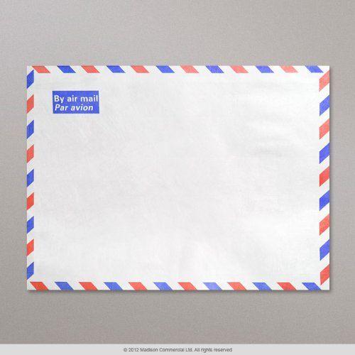 I like the idea of using airmail envelopes - Size: C6