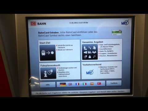 How to buy a ticket on the Munich Underground (S-Bahn Metro Subway) - YouTube