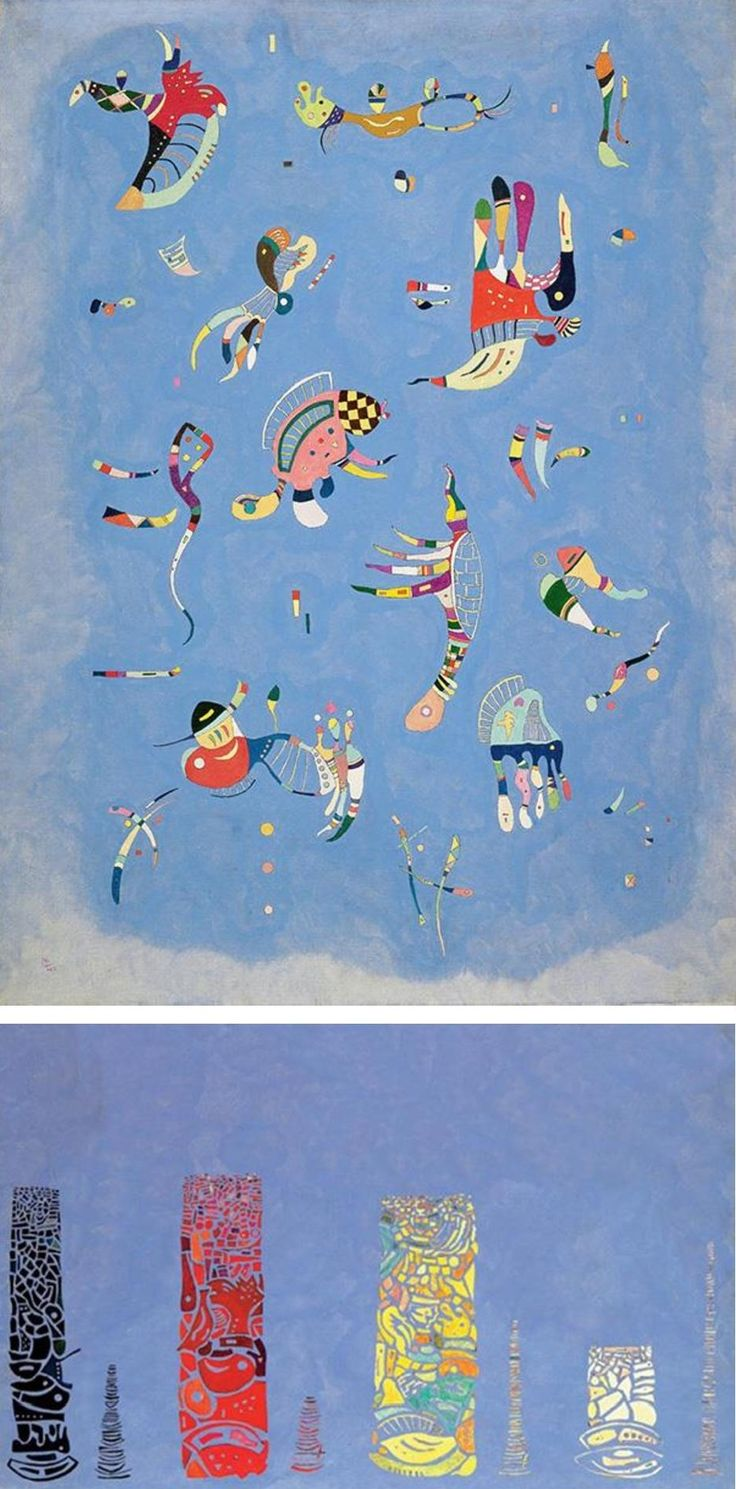 "Ursus Wehrli, Tidying Up Art. Wassily Kandinsky ""Sky Blue"""