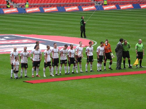 Luton Town FC, line up at the #JPT Final 2009