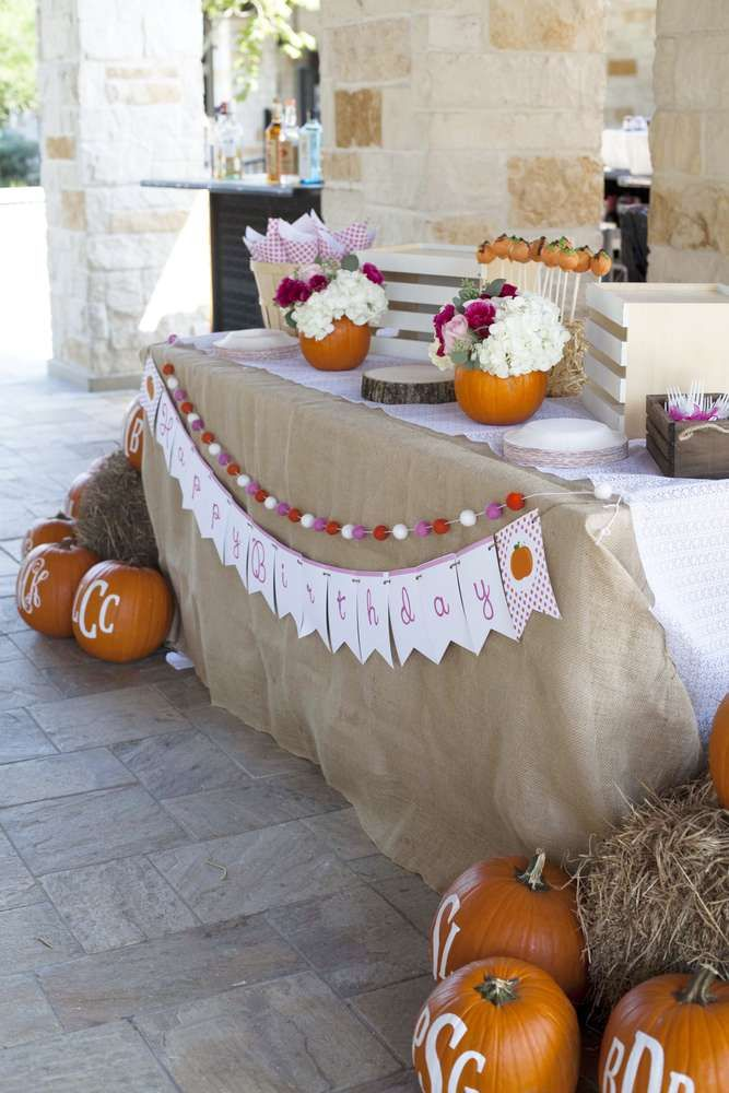 Pumpkin Birthday Party Ideas | Photo 10 of 54