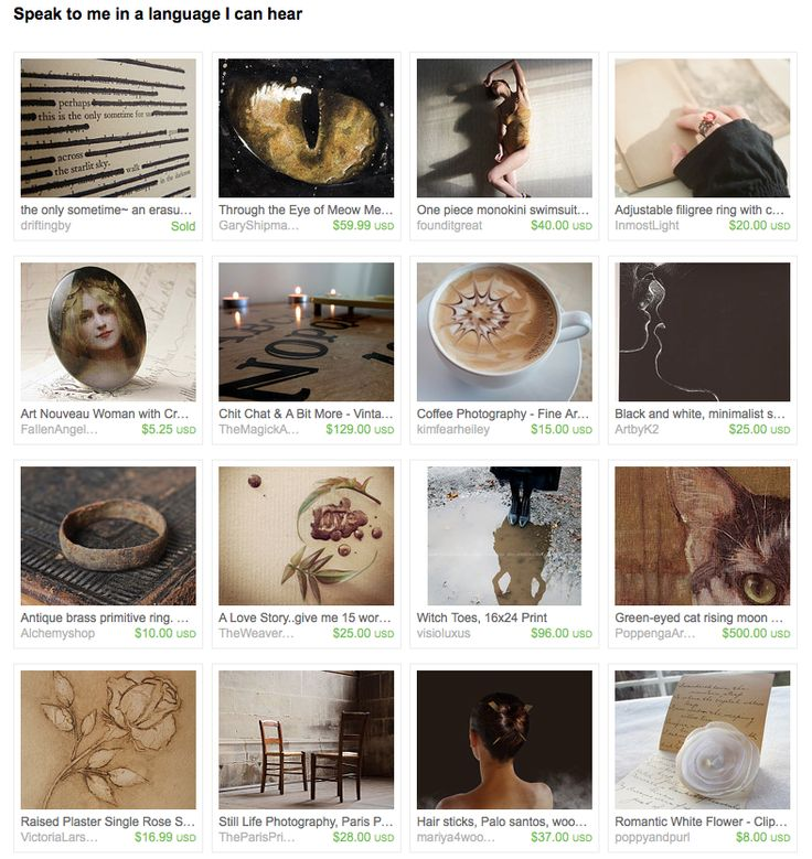 """I created this treasury """"Speak to me in a language I can hear"""" for the #TreasuryChallengeNonTeam Challenge # 186 featuring #JenessaHope from #driftingby and won an Honourable Mention!"""