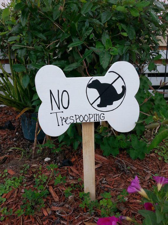Dog Sign Yard sign no trespooping no dog poop by kpdreams on Etsy