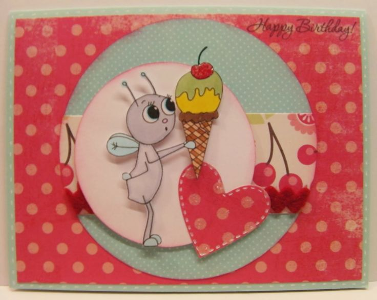Cutie Bug Ice Cream Cone from Fresh Brewed Designs http://bumblcreate ...