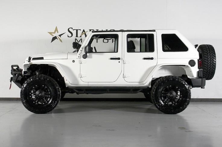 2012 jeep wrangler unlimited with matte white kevlar liner cars and bikes pinterest jeep. Black Bedroom Furniture Sets. Home Design Ideas