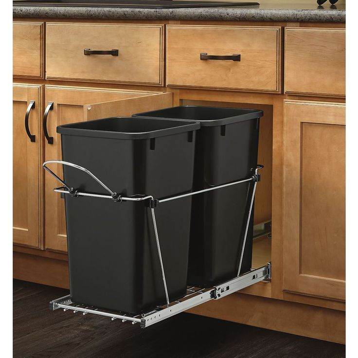 Shop Rev A Shelf 27 Quart Plastic Pull Out Trash Can At Lowes