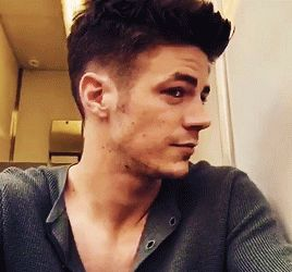 Grant Gustin - Switched it up a bit. #Krystal  gif