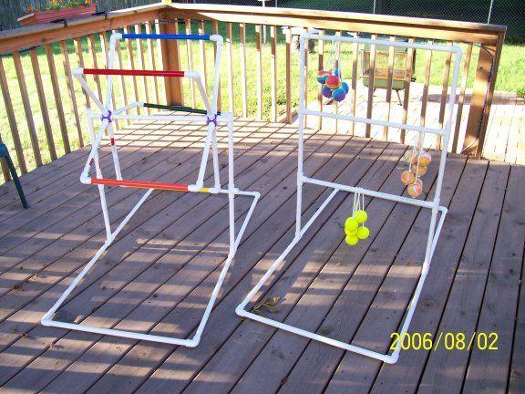 pvc: Pvc Recipes, Pvc Fun, Camps Games, Kids, Pvc Pipes, Pvc Games, Camps Fun, Outdoor Games, Ladder Ball