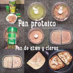 """Pan de atún y claras """"fit"""" (Pan proteico)"""