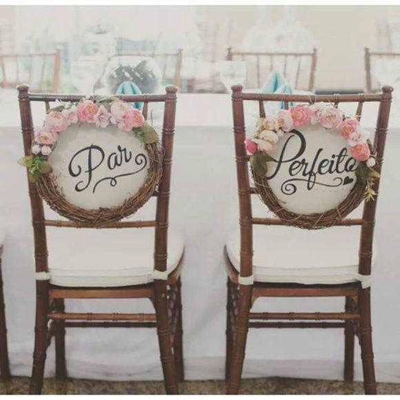 Placa para Cadeira dos Noivos                                                                                                                                                                                 Mais