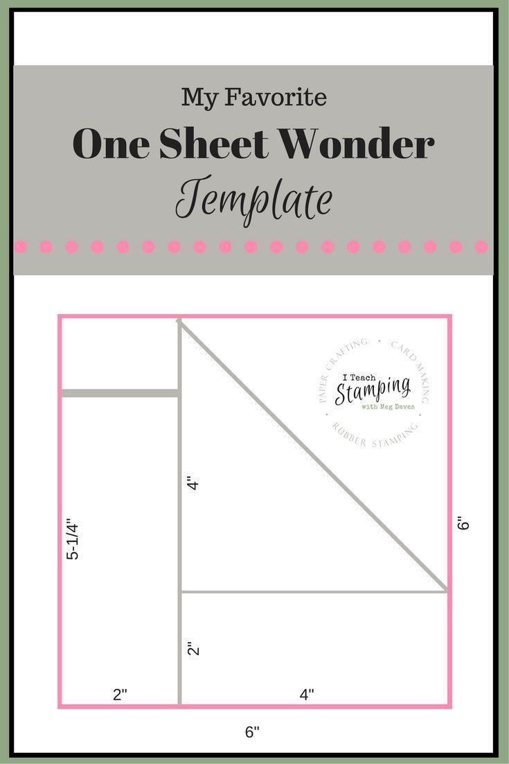 One Sheet Wonder Template For Batch Card Making Card Tech Fun