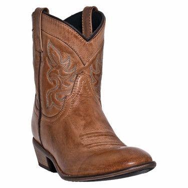 Dingo Womens Willie Ankle Cowboy Boots - Antique Tan [DI862]