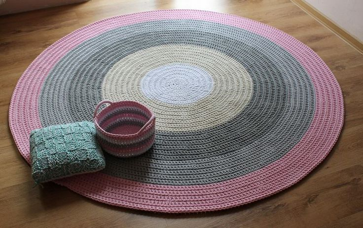 Dywan ze sznurka bawełnianego Pastelowe kolory, ręcznie robiony